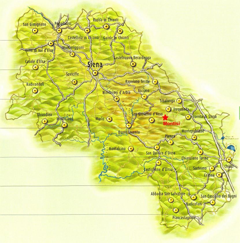 Cartina Toscana Provincia Di Siena.Taverna Montisi Mappa Del Sito